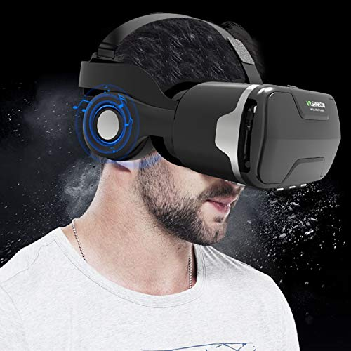 3D Virtual Reality Headset, Tsanglight 3D VR Glasses Viewer + Headphone for iOS iPhone 11 Pro/XR/XS/X/8/8+/7/7+/6/6S/6S…