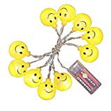 Glumes Decorative Smiley Face Lights, Easter Fairy String Lights Warm Yellow Battery Operated 1.2M(3.9ft) 10 LEDs for Indoor Outdoor Gardens,Home,Bedroom,Wedding,Xmas Birthday Party