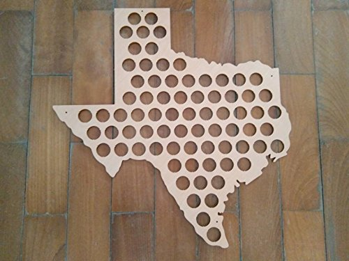 Beer Cap Map of Texas TX Craft Wood Beer Bottle Cap Map Personalized Gifts for Wall Decorative-Glossy Wood