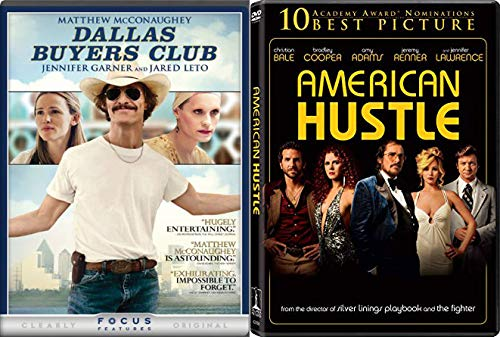 Acclaimed Physically Transformational Acting Performances: Dallas Buyers Club + American Hustle 2 DVD Bundle