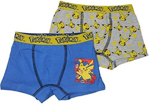Pokemon 2er Pack Jungen Boxershorts Unterhose Shorts