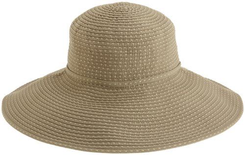 San Diego Hat Company Women's Ribbon Braid Hat With 5 Inch Brim,Khaki,One Size