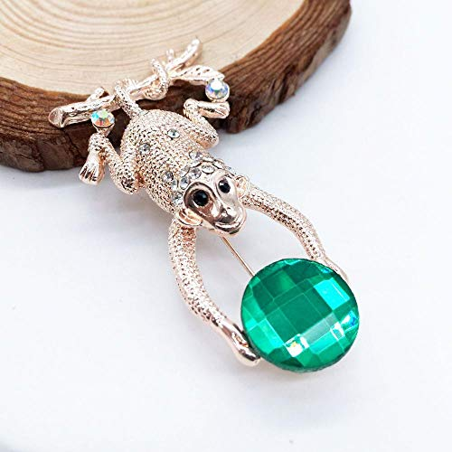 DTZH Brooches Jewelry pins Elegant Temperament Brooch Frog and diamond crystal brooch brooch Ornament Ladies Accessories ()