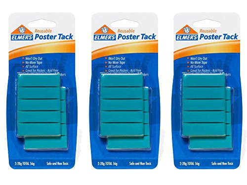 3 Pack of 2 Elmer's 2 oz. Reusable Poster Tack Bundled by Maven Gifts by JN