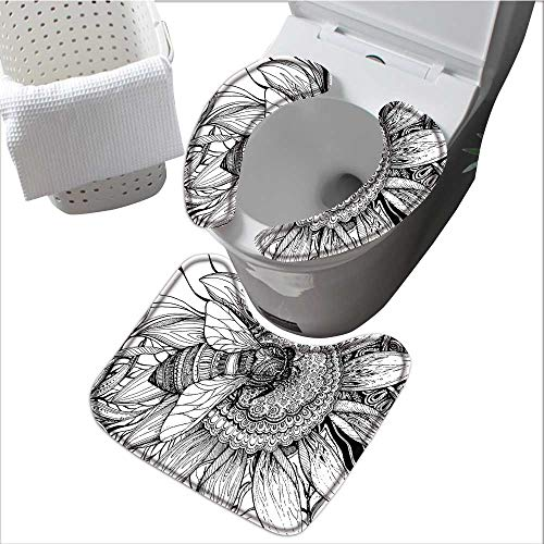 The Toilet Condom Bee Flower H ey Pollen Mother h Phase Wildlife Digital  Black WHI in Bathroom Accessories L15 4 x W 4