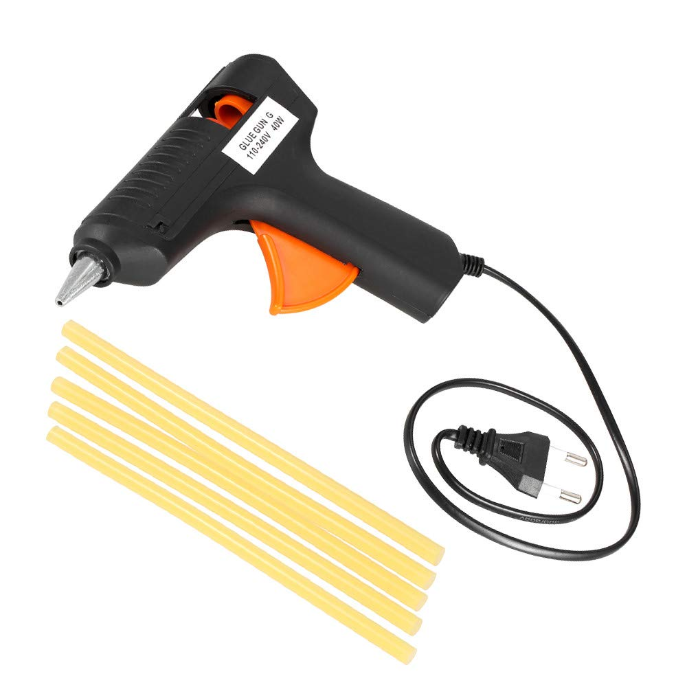 Autoday 40W Glue Gun for Car Body Cover Hail Repair Pit Repair Pull-Out Hot Melt Adhesive Tool +5 And Rubber