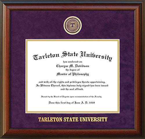 Wordyisms Tarleton State University Diploma Frame with School Medallion