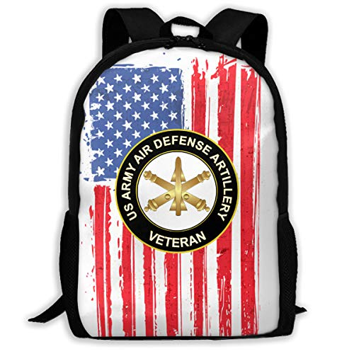Mucup US Army Veteran Air Defense Artillery School Bookbag Outdoor Travel Rucksack College Backpack