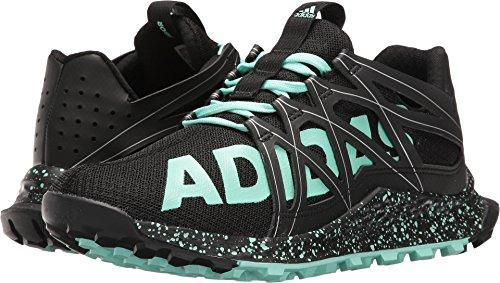 adidas Originals Women's Vigor Bounce w Tennis Shoe, Black/Easy Green/White, 5.5 M US