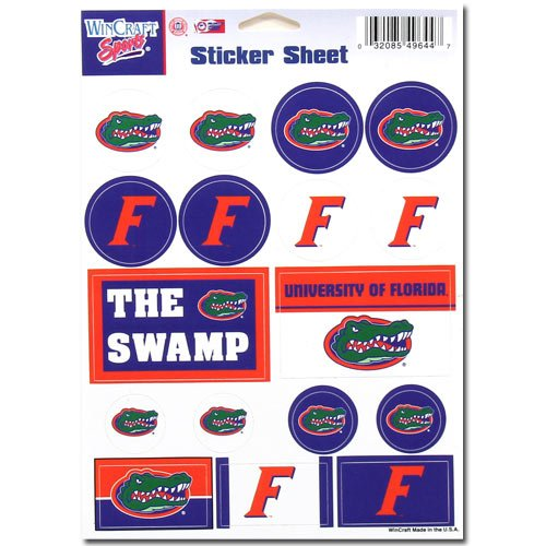 "WinCraft NCAA University of Florida Vinyl Sticker Sheet, 5"" x 7"""