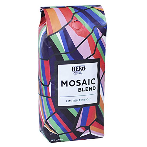 Hero Coffee Bar Whole Bean Roast Coffee, Mosaic, 1 Pound - Mosaic Coffee