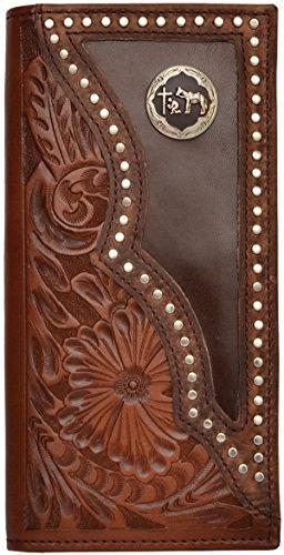 Brown Western 3D Wallet 3D Rodeo Brown H0Egaqwnx