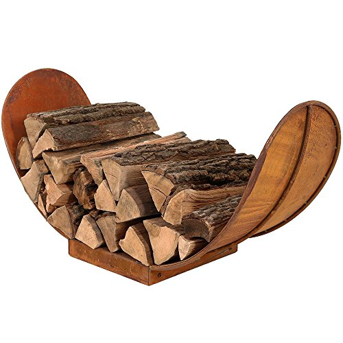 Sunnydaze 3-Foot Rustic Outdoor Firewood Log (Firewood Rack 3 Foot)