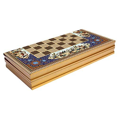 19'' Persian Khatam Pattern Yenigun Backgammon Turkish Premium Board Game Set