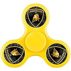 Lamborghini Logo Tri-Spinner Fidget Toy Plastic EDC Hand Spinner For Autism and ADHD Rotation Time Long Anti Stress Toys