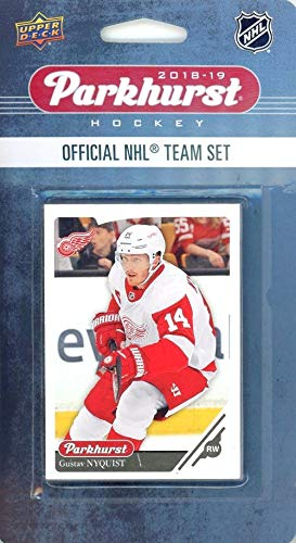 Detroit Red Wings 2018/19 Upper Deck Parkhurst NHL Hockey EXCLUSIVE Limited Edition Factory Sealed 10 Card Team Set including Henrik Zetterberg, Frans Nielsen & all the Top Stars! WOWZZER!
