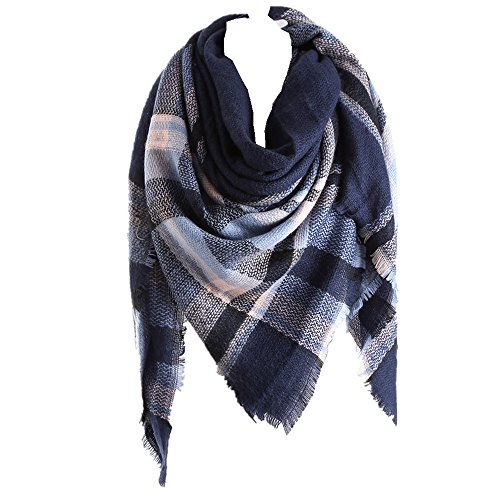 RACHAPE Women Warm Blanket Scarf Plaid Wrap Shawl Winter
