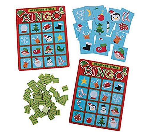 Fun Express - Christmas Bingo Game - Christmas Item for Boys and Girls of All Ages - Great for the Festivities