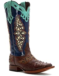 Lucchese Women's Handcrafted 1883 Amberlyn Full Quill Ostrich Boot - M5802.Twf