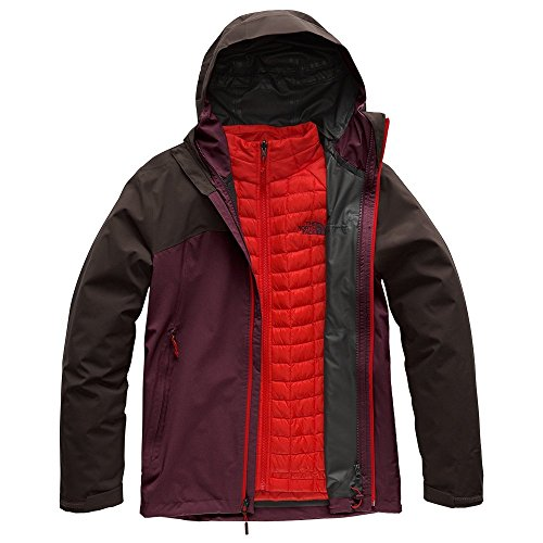 The North Face Men's Thermoball Triclimate Jacket - Fig & Bittersweet Brown - L ()