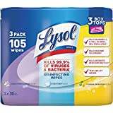 Lysol Disinfecting Wipes, Lemon, Early Morning Breeze & Crisp Linen (35 Wipes x 3 Tubs)