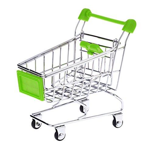 Pet Mini Supermarket Shopping Cart Bird Dog Cat Training Toy, Green (Putting Green Utility)