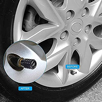 Baoxijie 4 Pcs Metal Car Wheel Tire Valve Stem Caps for Ford Mustang Car Model Series Styling Decoration Accessories: Automotive