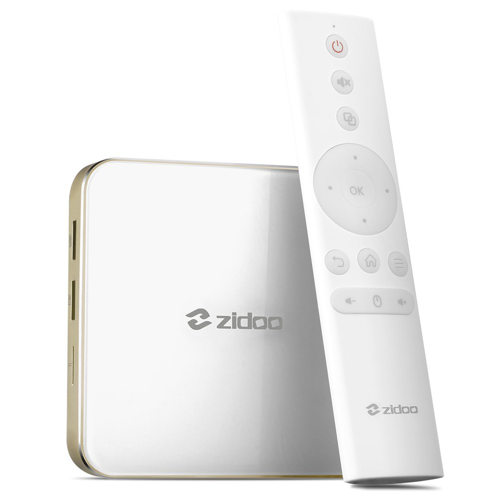 Docooler Zidoo H6 PRO Smart HD Media Player Android 7.0 TV Box Allwinner H6 Quad Core 4K H.265 VP9 HDR10 2GB DDR4 16GB EMMC DLNA 2.4G&5G Dual-band WiFi 1000M LAN US Plug