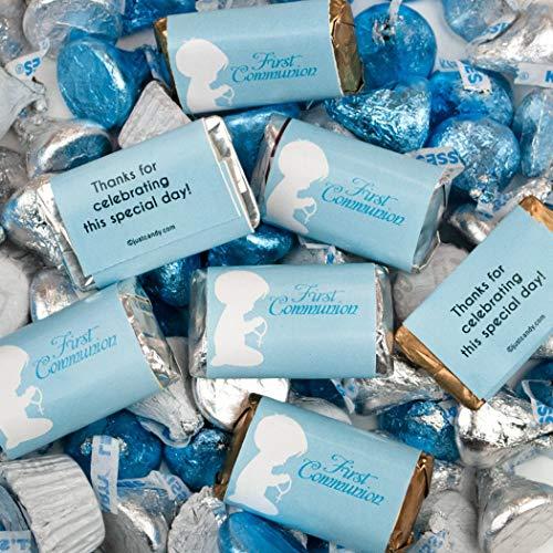 (Boy First Communion Hershey's Chocolate 3lb - Blue Candy)