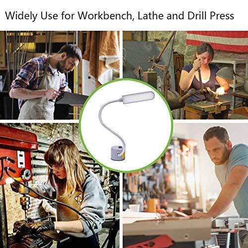 EVISWIY Sewing Machine Light LED Lighting (30LEDs) 6 Watt Multifunctional Flexible Gooseneck Arm Work Lamp with Magnetic Mounting Base for Workbench Lathe Drill Press Gray