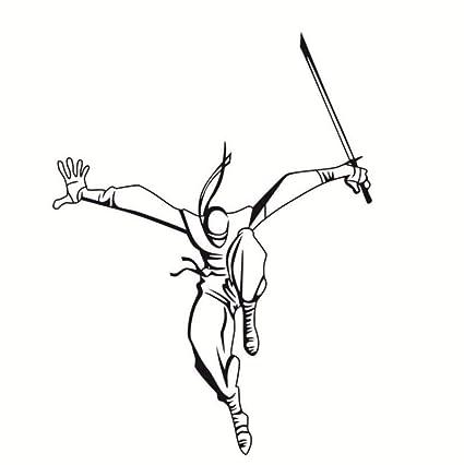 Amazon.com: Yxjj1 Ninja Wall Decals Fighter Wall Stickers ...