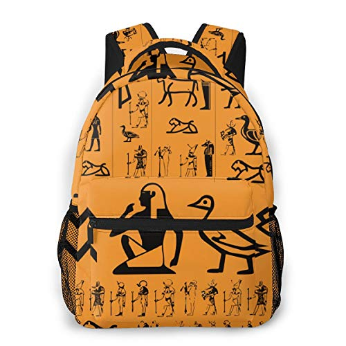 OMNPL Ancient Egypt Clipart Laptop Backpack,School Backpack for Men Women,Lightweight Travel Casual Durable Daily Daypack College Student Rucksack 11.5in X 8in X 16in ()