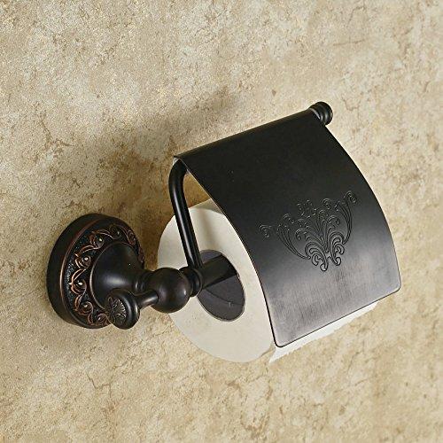 JinRou Unique design Brass Towel rack black continental black bronze paper holder toilet paper holder pendants JinRou Toilet paper holder
