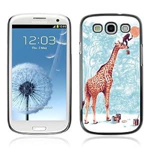 YOYOSHOP [Giraffe & Monkey Painting Moon] Samsung Galaxy S3 Case