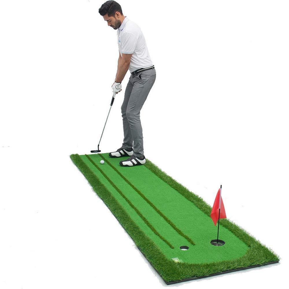 ゴルフ練習パターマット, 環境の泥炭が付いている小型ゴルフ人工的な緑のゴルフパッティンググリーンのマットの双方向パタートレーナー、接着剤に伸縮性がある (色 : 緑, サイズ : 0.75*3M) 0.75*3M 緑 B07RT86NX5