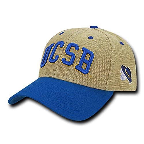 37c2392a University of California Santa Barbara UCSB Gauchos Structured Jute Baseball  Ball Cap Hat. by bhfc