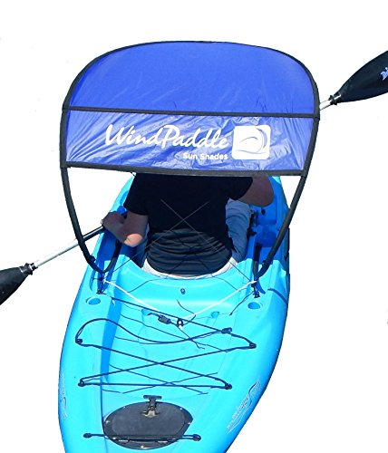 WindPaddle Sails Sun Shade for Kayaks and Canoes SUP's and Inflatables, Blue, Large by WindPaddle Sails