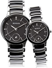 Couples Pair Black Ceramic Watch His and Hers Gifts Watches for Women and Men 2pcs/