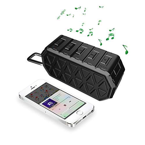 Portable Bluetooth Speakers, INKERSCOOP Wireless Waterproof Speakers, Outdoor Bluetooth Wireless Speakers for iPhone/Android/Tablet (Small, Black)