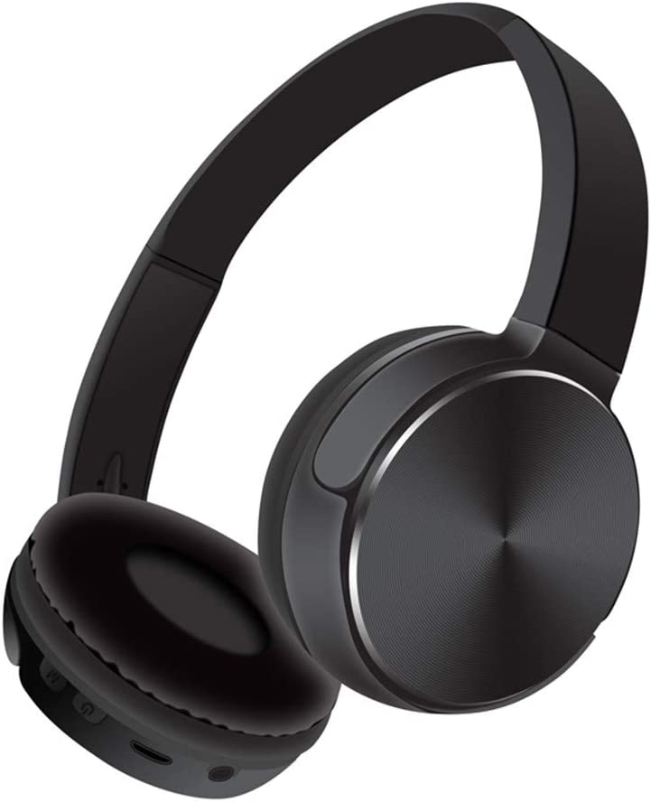LWH Bluetooth Wired and Wireless Ear Headphones Over Ear with Mic, Noise Cancelling Hi-Fi Stereo On Ear Headphones for Cell Phone/PC (Black)