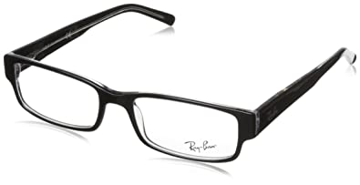 60ef42d5f8d96 ... sweden ray ban eyeglasses rx5069 2034 black on transparent demo lens  53mm 452af bf476