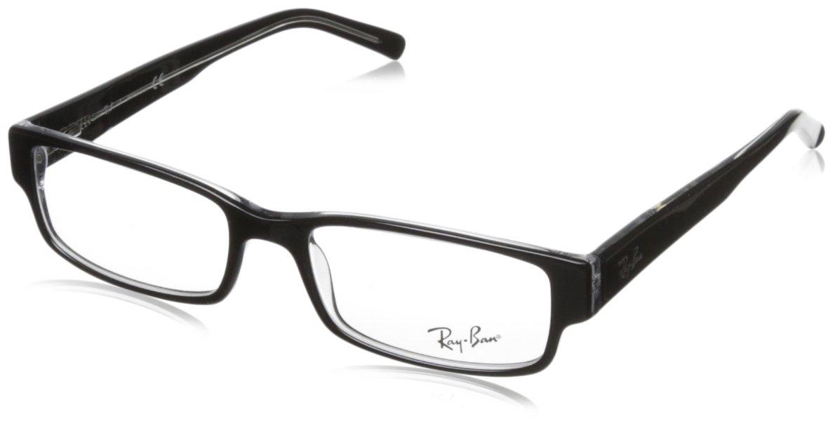 Ray Ban Eyeglasses RX5069 2034 Black on Transparent/Demo Lens, 53mm