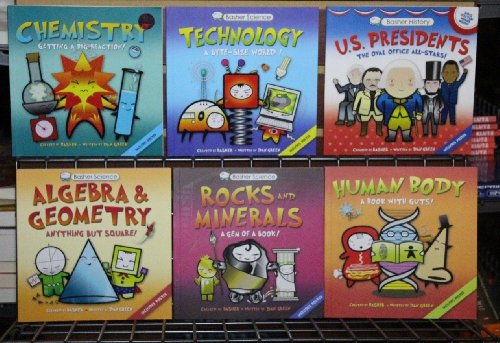6 Book Set Basher Collection Science History (Basher Science Rocks And Minerals)