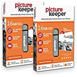 Smart USB Flash Drive 16GB - Picture Keeper Desktop Photo Backup Device for PC and MAC Laptops and Computers (2-Pack Bundle)