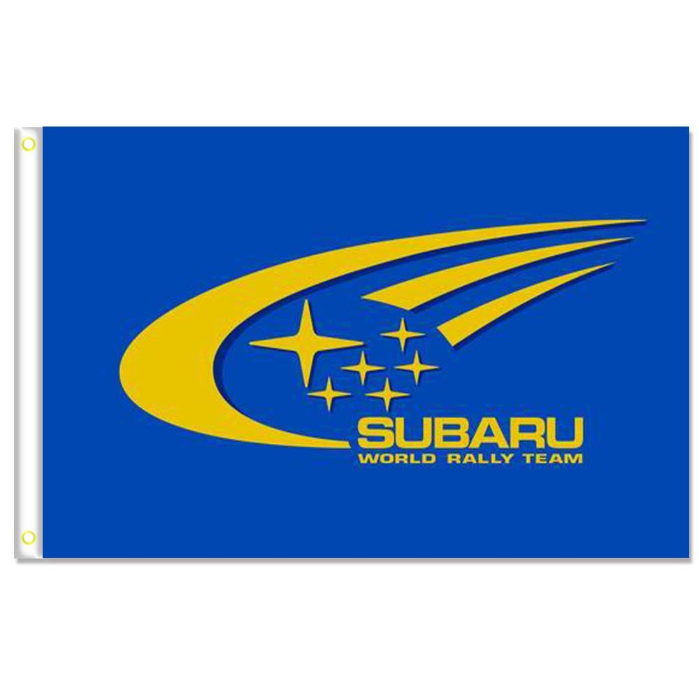 Home King Subaru Blue Flags Banner 3X5FT 100% Polyester,Canvas Head with Metal Grommet