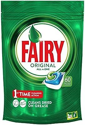 Fairy Original Todo en 1 Cápsulas de Lavavajillas - Pack de 60 ...