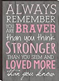 #3: Always Remember You Are Braver Than You Think 4x6 Wall Plaque