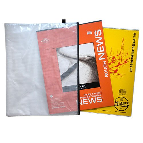 Pro Art Mesh Bag 18-Inch by 24-Inch Como and Newsprint Pad Value Pack by Pro Art