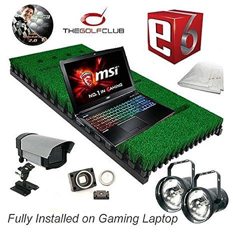 PROTEE Base Pack One Pro Golf Simulador con TGC y E6 Paquetes de Software Totalmente Instalado en portátil para Juegos.: Amazon.es: Deportes y aire libre