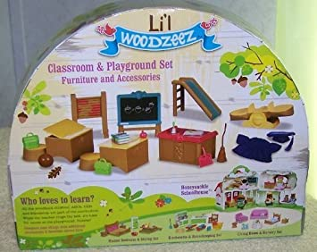 Lil Woodzeez Classroom Playground Set